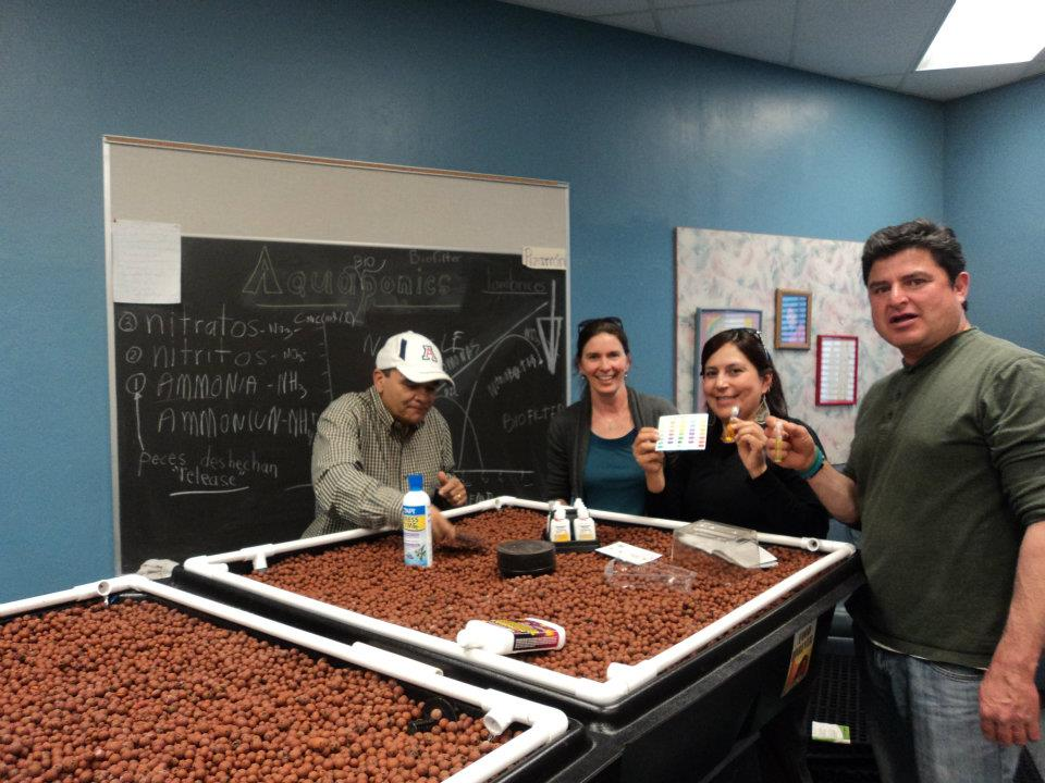 Davis Bilingual Elementary Staff learn how to measure Water Quality