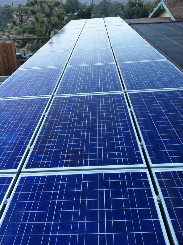 Our Fishroom Roof with Solar Panels!